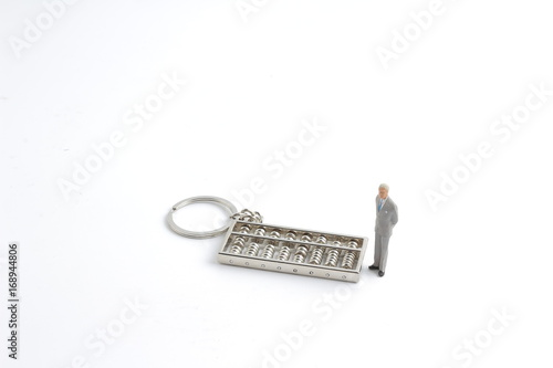 the mini of  business with the abacus