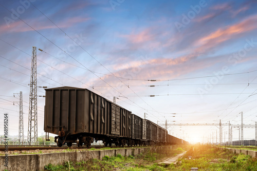 Docked freight train