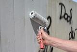 Fototapeta Fototapety dla młodzieży - schmiererei übermalen © mhp