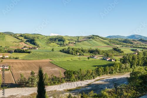 Il borgo storico di Castell'Arquato, Piacenza, Emilia Romagna, Italia