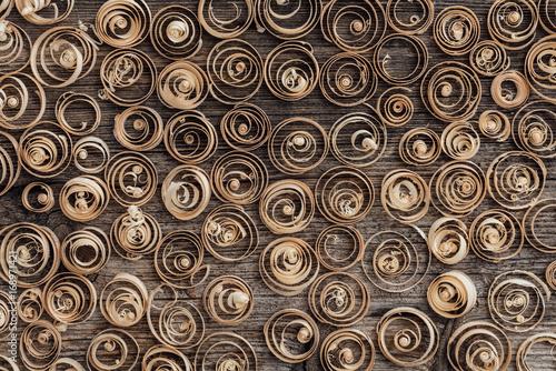 Wood shavings background - 168971421