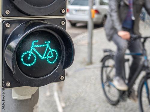 Plakat Fahrradampel mit Fahrradfahrer