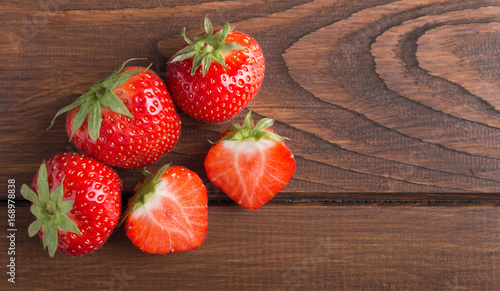 strawberry's on a wooden table