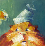 Cat and fish - 168980213