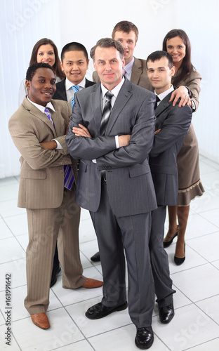 head and confident business team