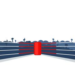 empty boxing ring