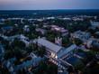 Aerial of Princeton NJ Sunset