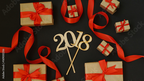 Numbers of next year with gifts