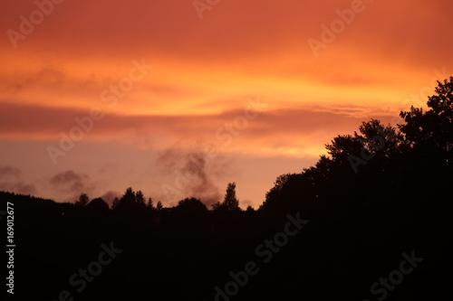 In de dag Oranje eclat Abendrot