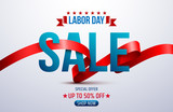Happy Labor Day.Labor Day Sale promotion advertising banner template.American labor day wallpaper.Vector illustration. - 169019032