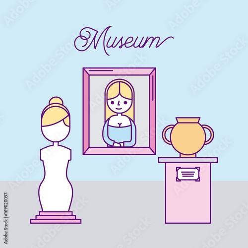 history museum advertising icon vector illustration design graphic
