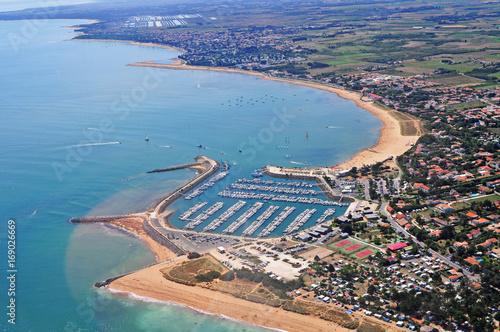 Fotobehang Nice Aerial view atlantic ocean and oleron island