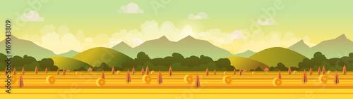 Fotobehang Boerderij Farm panorama. Vector illustration for your design