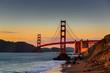 golden gate bridge - sunset - baker beach