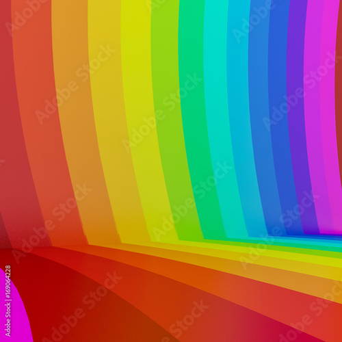 abstract colorful rainbow perspective background,3d © Suwatchai