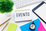 Event planning on working desk