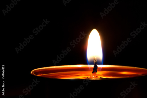 Candle fire on black ,Spa candle,Candles light Poster