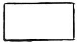 Handgemalter Rahmen aus schwarzer Farbe - 169072406