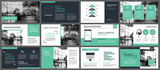 Green presentation templates and infographics elements background. Use for business annual report, flyer, corporate marketing, leaflet, advertising, brochure, modern style. - 169073652