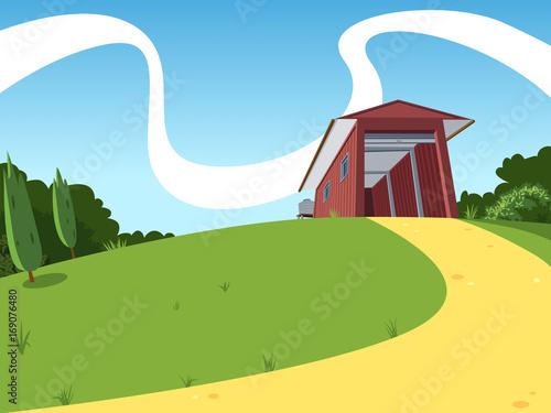 Fotobehang Boerderij Rural Shed