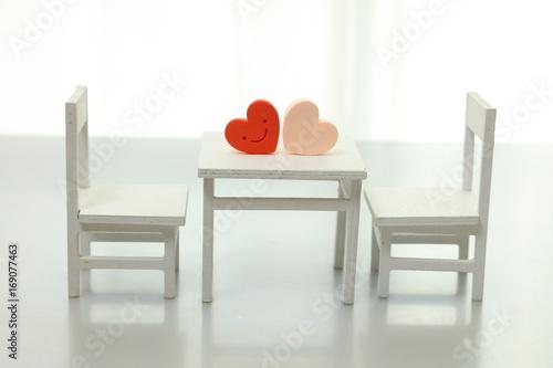 白いミニチュア家具 Poster