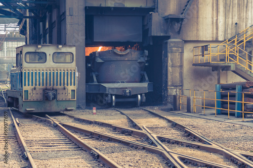 interior view of a steel factory,steel industry in city of China.