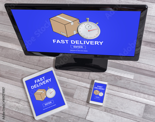 Fast delivery concept on different devices