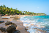 The Goyambokka beach in Tangalle in the southern province of Sri Lanka. The coastal town has a majestic bay and the most beautiful beaches in the south and south-east  - 169079668