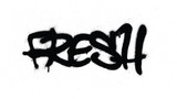 graffiti tag fresh sprayed with leak in black on white