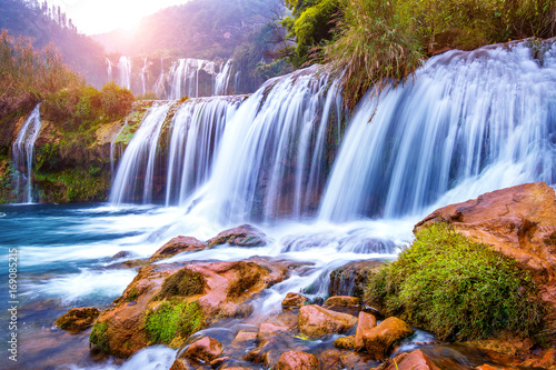 Jiulong waterfall in Luoping, China. - 169085215