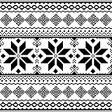 Traditional folk black embroidery pattern from Ukraine or Belarus - Vyshyvanka  - 169085892