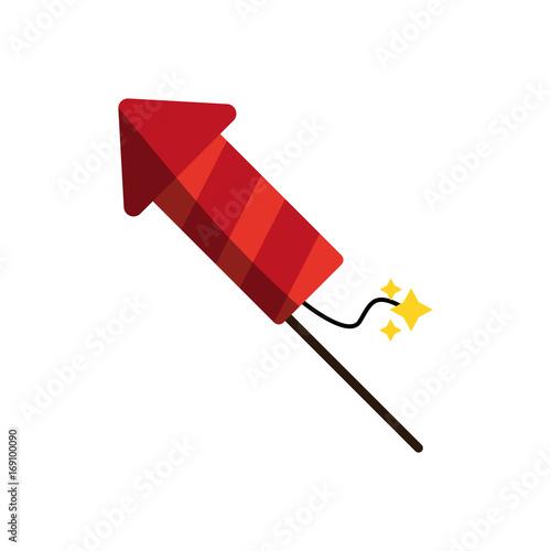firework rocket icon image vector illustration design