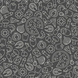 seamless pattern with pizza design elements - 169104251