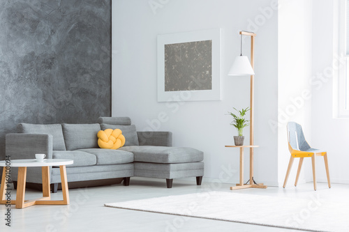 Spacious living room with painting