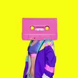 Fashion Retro Cassette Minimal art collage - 169114094
