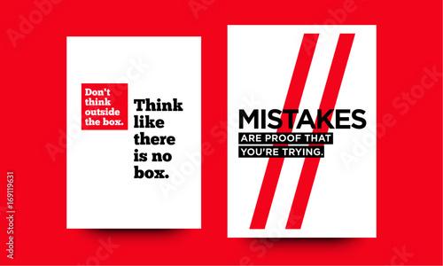 Foto op Canvas Positive Typography Motivational Quote Minimalist Poster Design