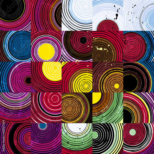 Aluminium Abstract met Penseelstreken abstract background pattern with circles, squares, strokes and splashes,vector