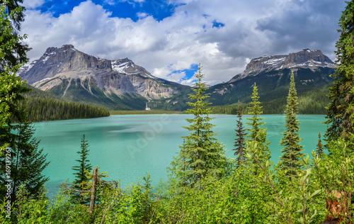 Fotobehang Canada Emerald Lake in Canada