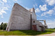 Abandoned granary agricultural building SK Canada