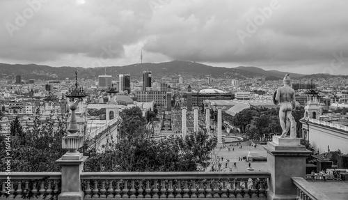 Aluminium Barcelona Amazing view over Barcelona from National Palace - Palau Nacional