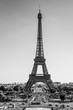 Famous Eiffel Tower in Paris - most famous landmark in the city