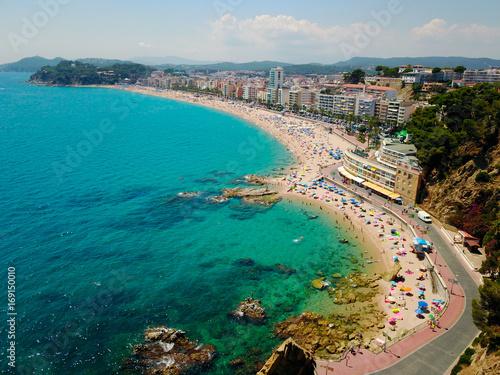 Fotobehang Nice Spain sea – Lloret de mar. Aerial view