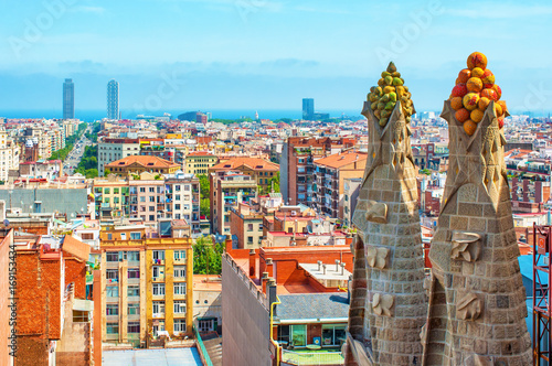 Fotobehang Barcelona Cityscape in Barcelona, Spain