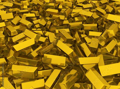 Gold Bars Scattered