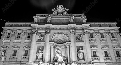 Foto op Plexiglas Rome The front of the mansion at the Fountains of Trevi in Rome