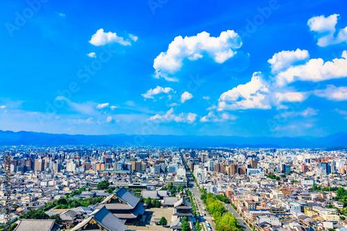 Deurstickers Kyoto 都市風景 京都