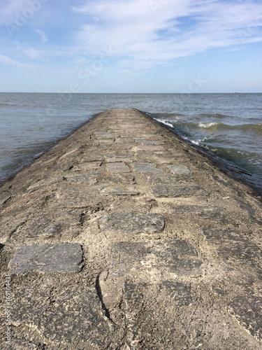 Aluminium Noordzee Blick von Steindamm auf die Nordsee