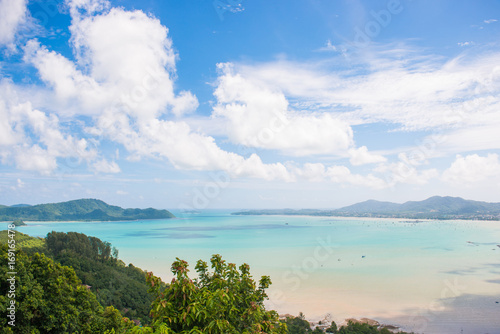 Beautiful view of the bay from Khao-Khad Views Tower, Phuket