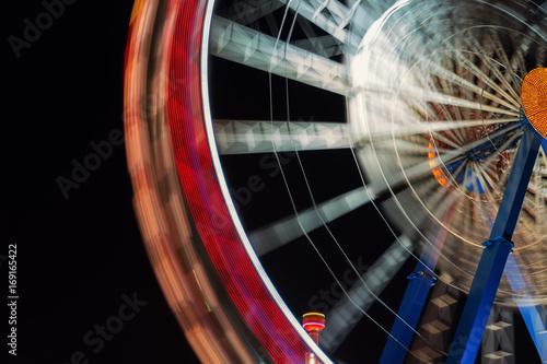 Plakat Oktoberfest Wiesn Riesenrad Fahrgeschäft Fahrgeschäfte Theresienwiese bei Nacht