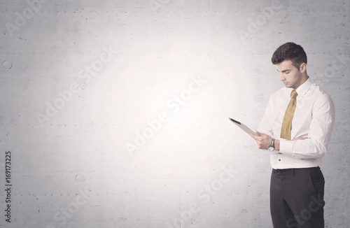 Elegant businessman with clear background
